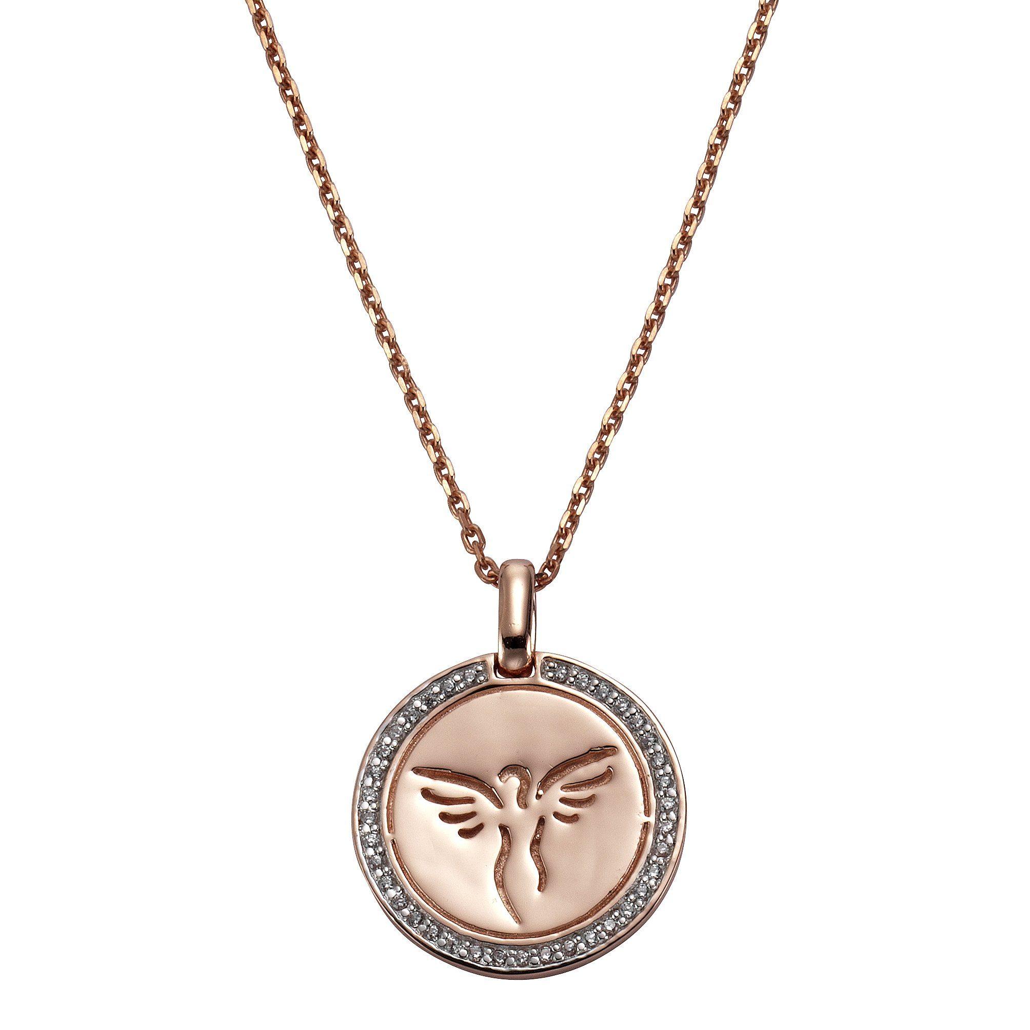CELESTA Anhänger mit Kette »925/- Sterling Silber rosévergoldet Zirkonia«