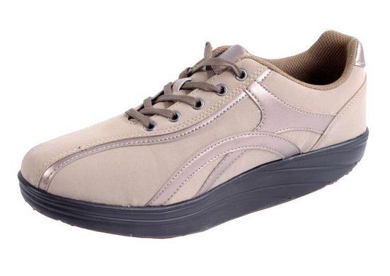 Zapato Plateausneaker Aktiv Outdoor Schuhe Fitnesschuhe Fitness Sneaker Freizeitschuhe Sportschuhe beige