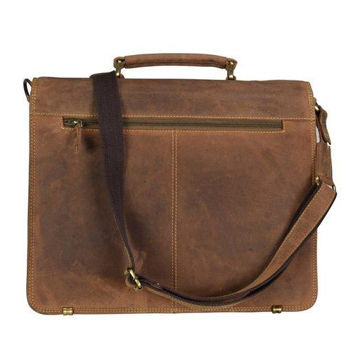 40 Aktentasche Leder Vintage Cm Laptopfach Greenburry tT7qwxEw5
