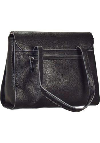 - Damen Tamaris Tiana Business Schultertasche 34 cm schwarz   04011214132230