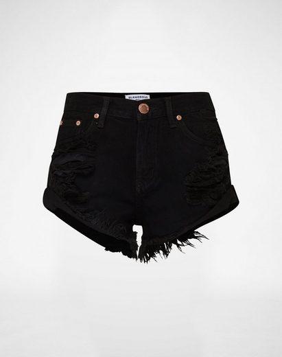 Glamorous Jeanshotpants KA2975, Fransensaum