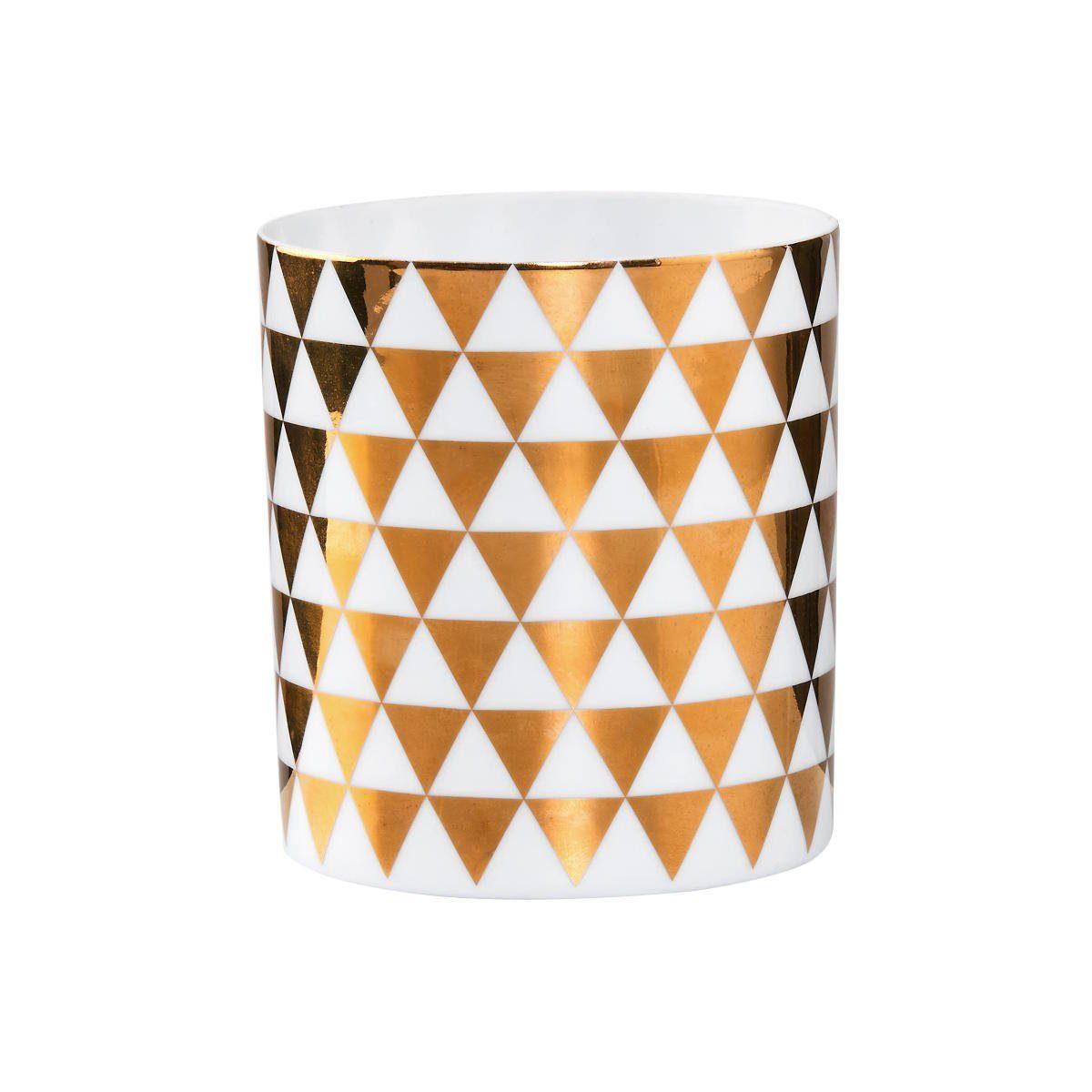 BUTLERS DELIGHT »Teelichthalter mit goldenen Rauten groß«