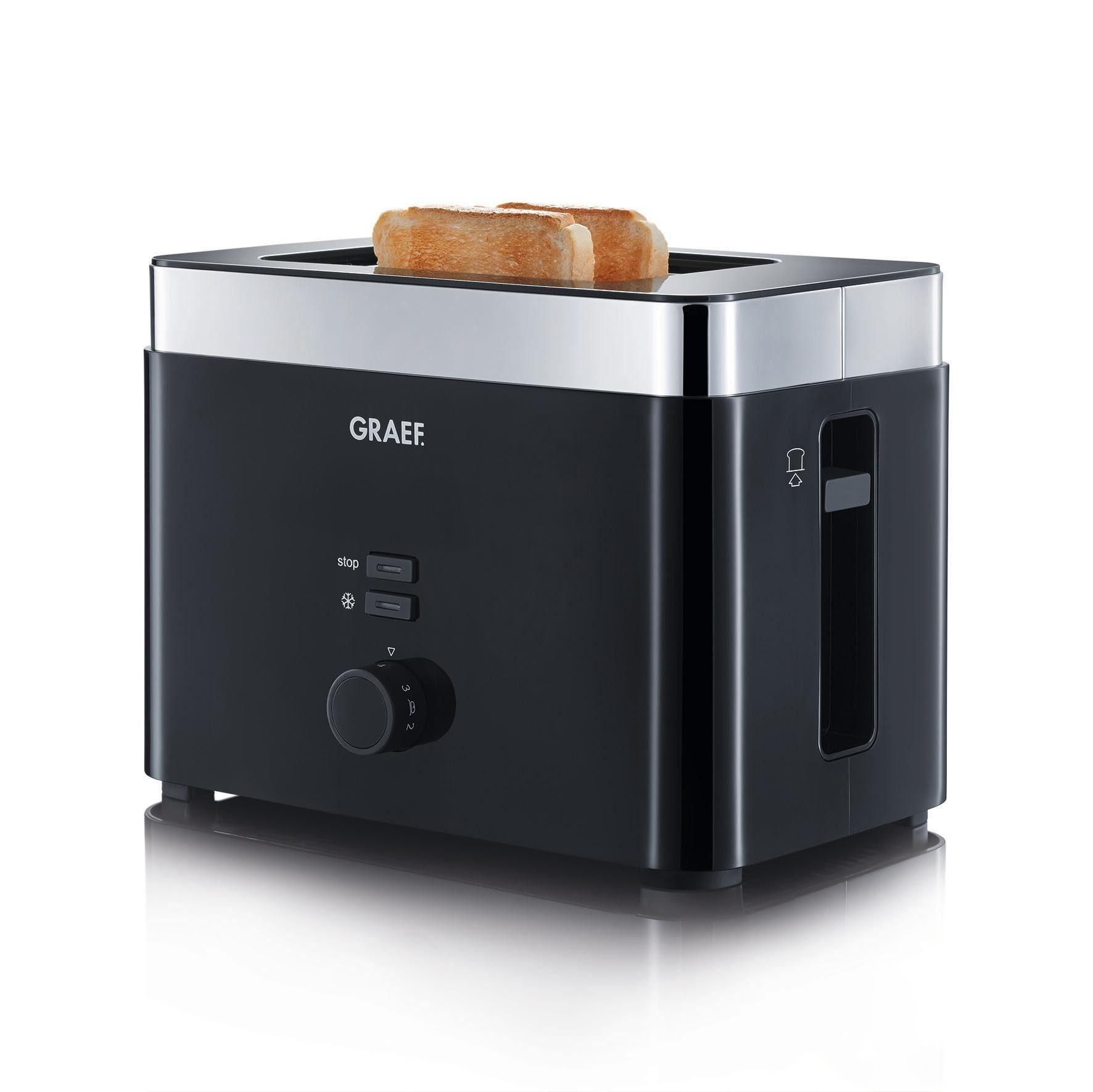 Graef Toaster TO 62, für 2 Scheiben, 888 W