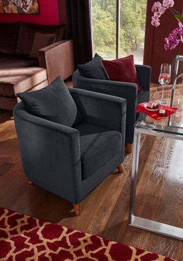 GMK Home & Living GMK Speise-Sessel »Vaals« inklusive gemütlichen Rückenkissen mit Logostickerei