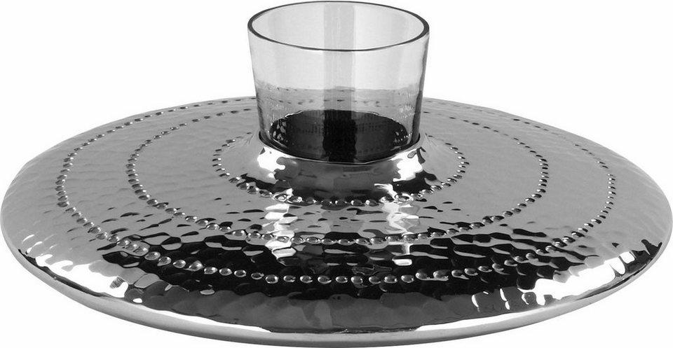 fink teelichthalter siwa mit glasaufsatz kaufen otto. Black Bedroom Furniture Sets. Home Design Ideas