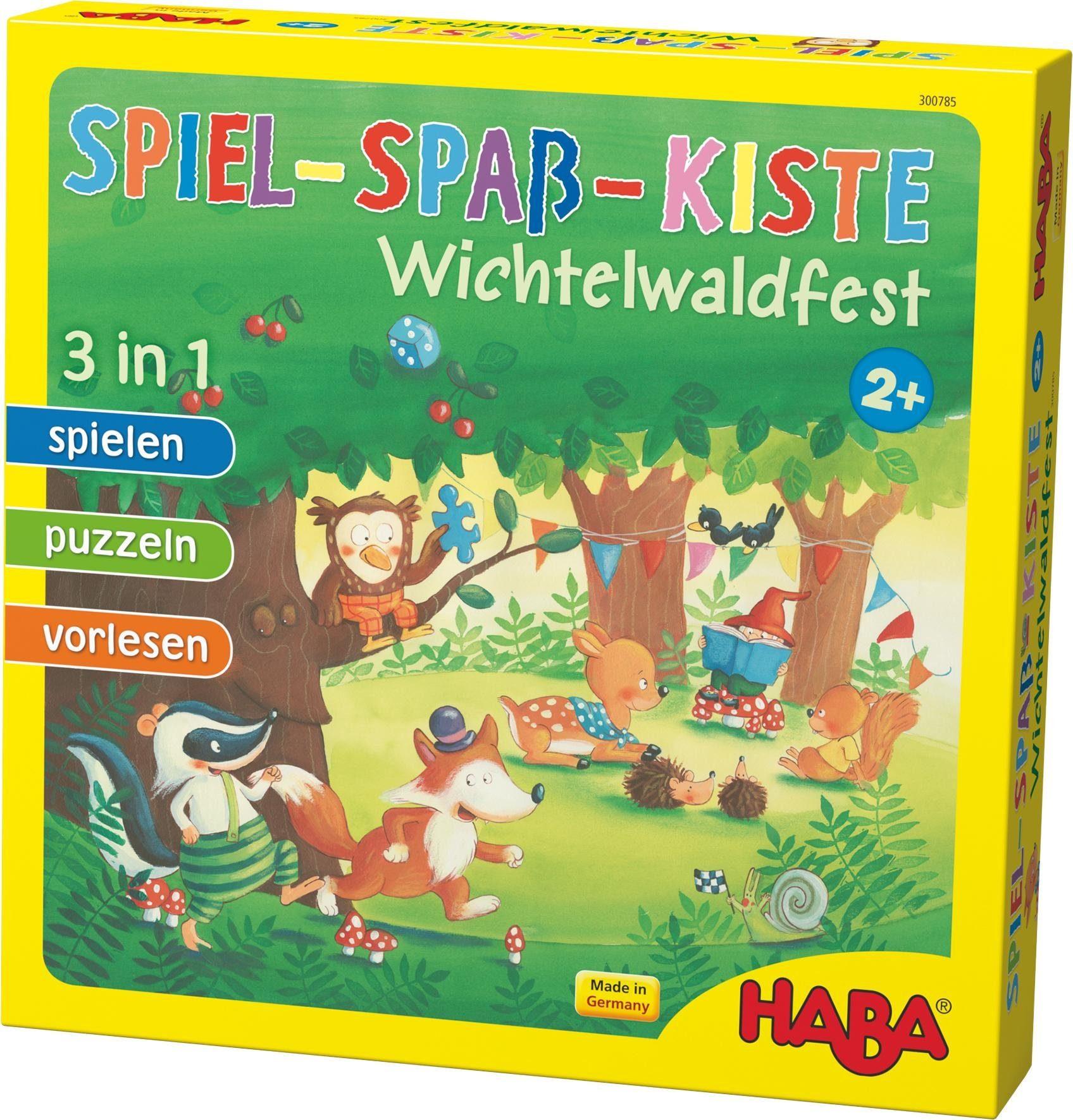 HABA® Kinderspiel, »Spiel-Spaß-Kiste Wichtelwaldfest«