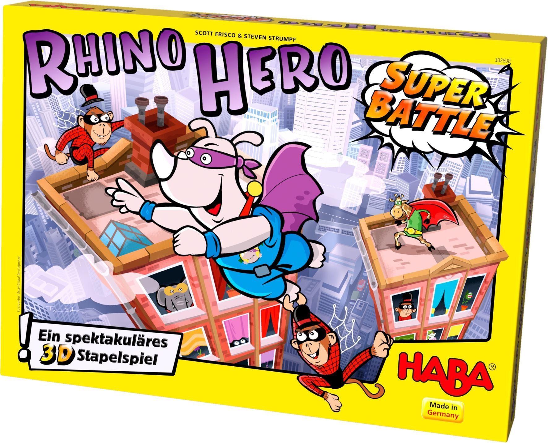 HABA® Kinderspiel, »Rhino Hero - Super Battle«