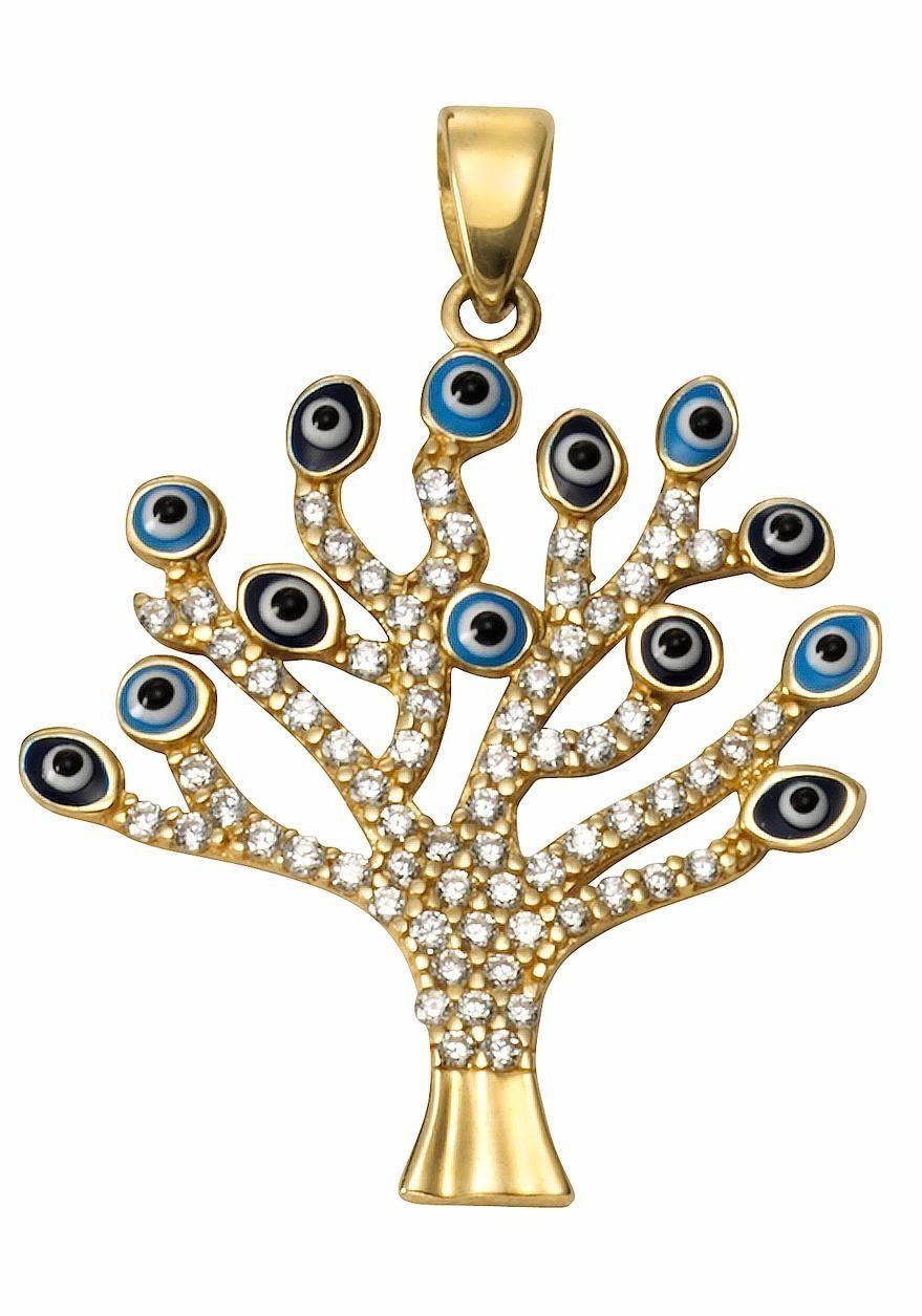 Firetti Kettenanhänger »Baum« mit Zirkonia
