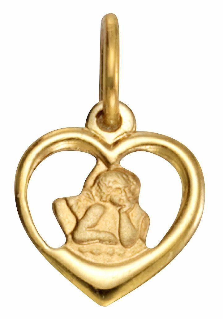 Firetti Herzanhänger »Herz mit Schutzengel«