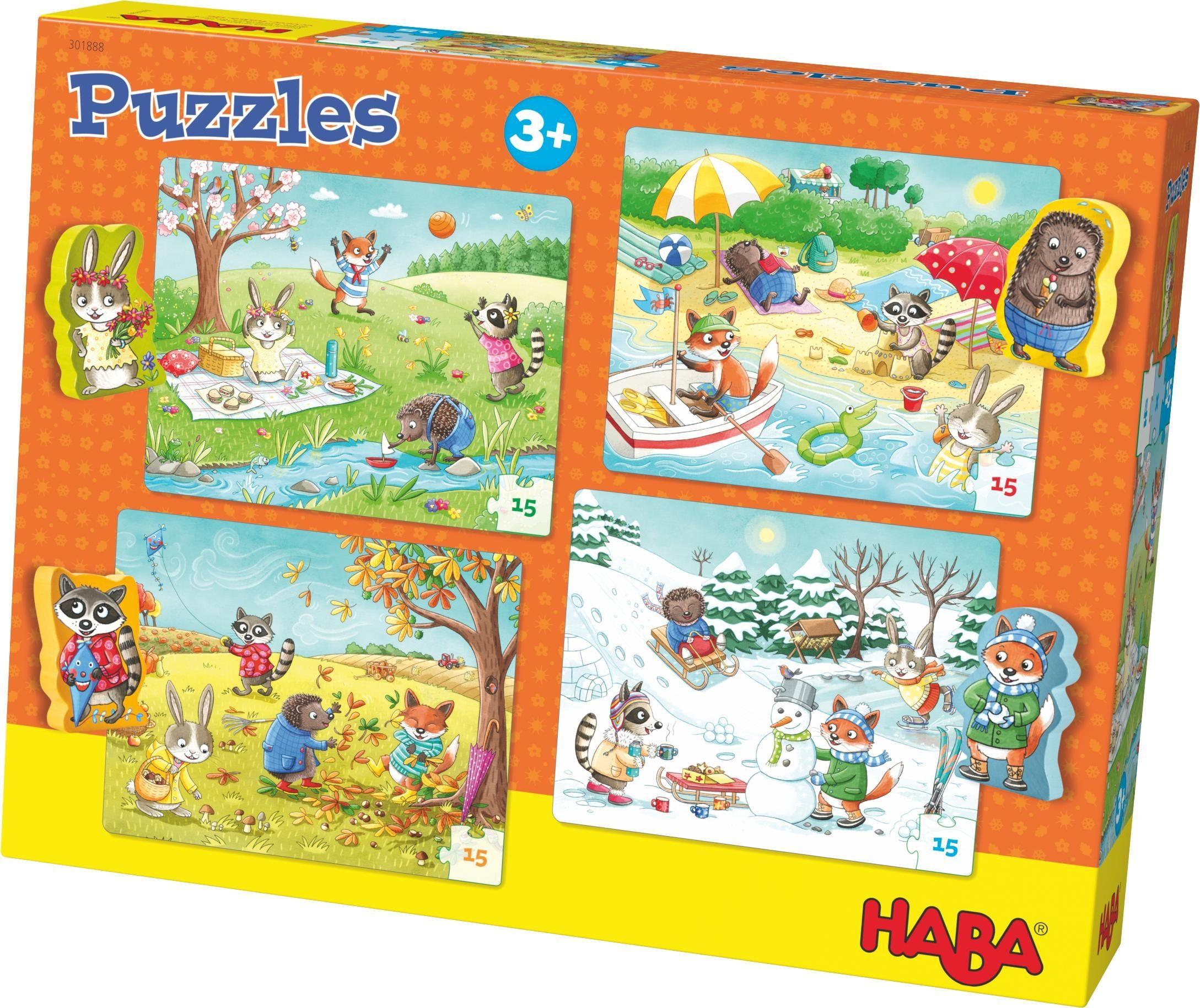 HABA® Puzzle, 4x15 Teile, »Jahreszeiten«