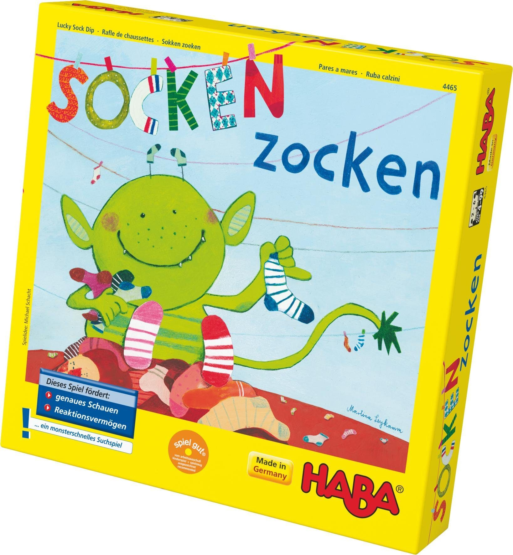 HABA® Kinderspiel, »Socken zocken«