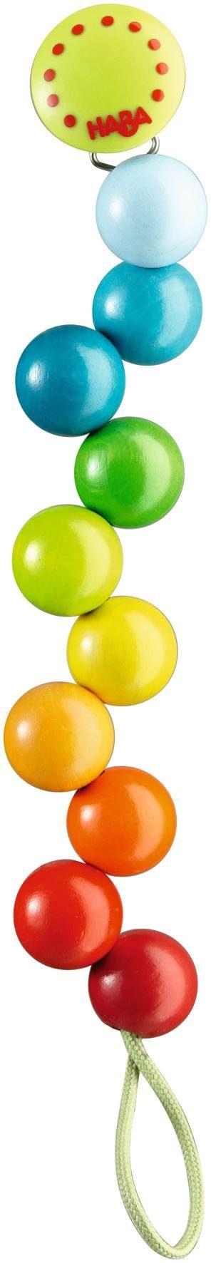 HABA® Schnullerkette, »Regenbogen-Perlen«