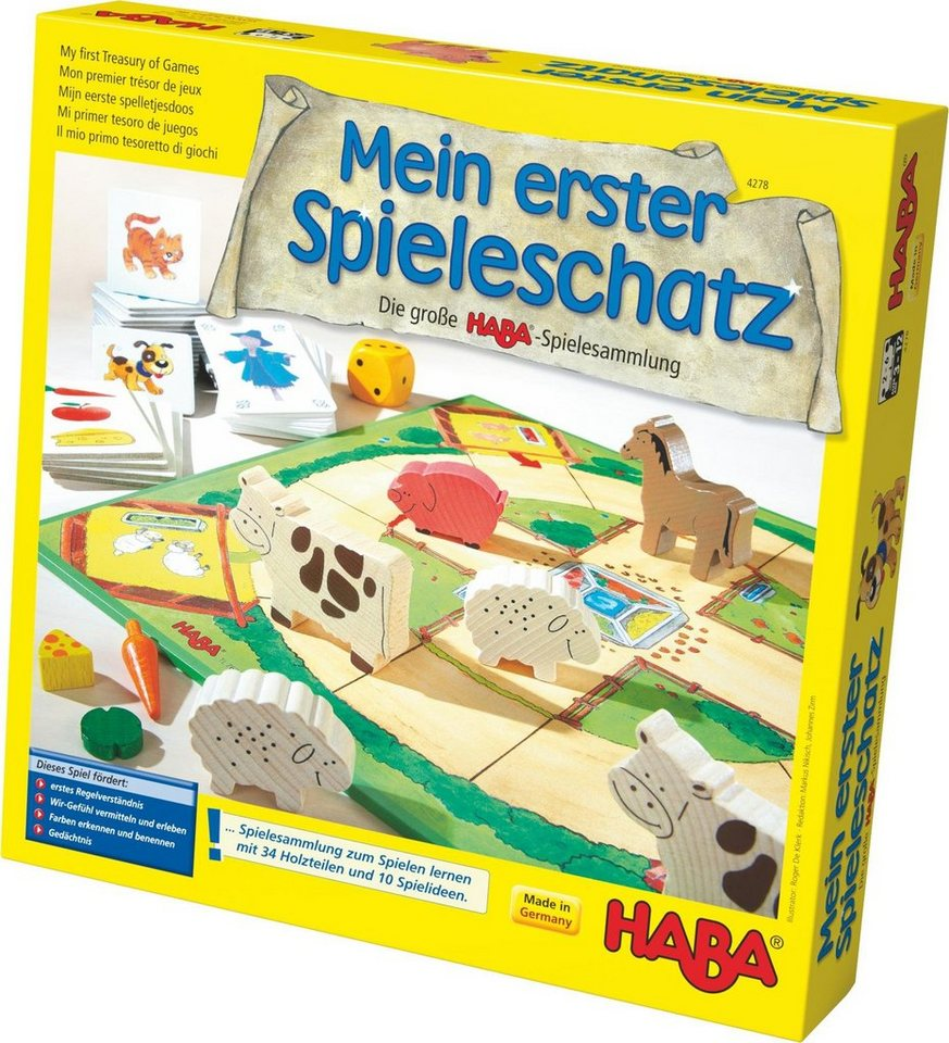 haba kinderspiel mein erster spieleschatz die gro e. Black Bedroom Furniture Sets. Home Design Ideas