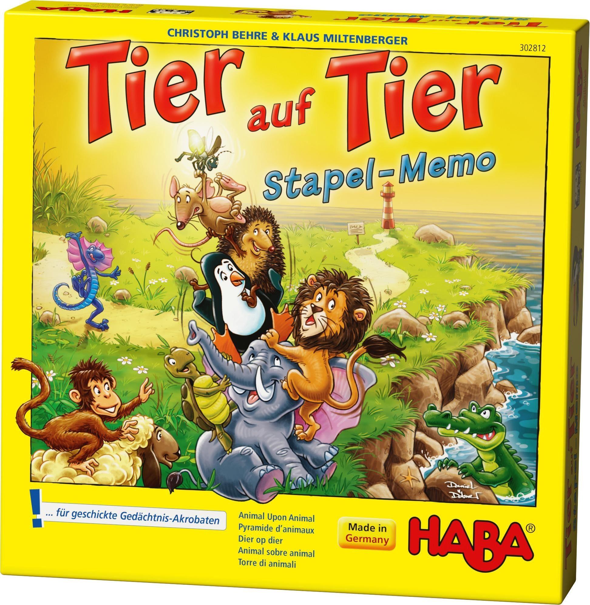 HABA® Kinderspiel, »Tier auf Tier - Stapel-Memo«