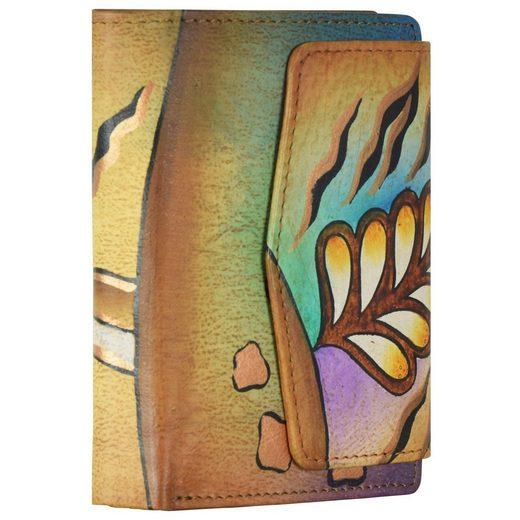 GreenLand Nature Art + Craft Geldbörse Leder 11 cm