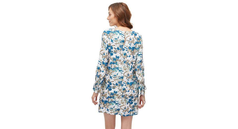 Tom Tailor A-Linien-Kleid mit floralem Muster Offiziell Manchester Zum Verkauf DOSUF2