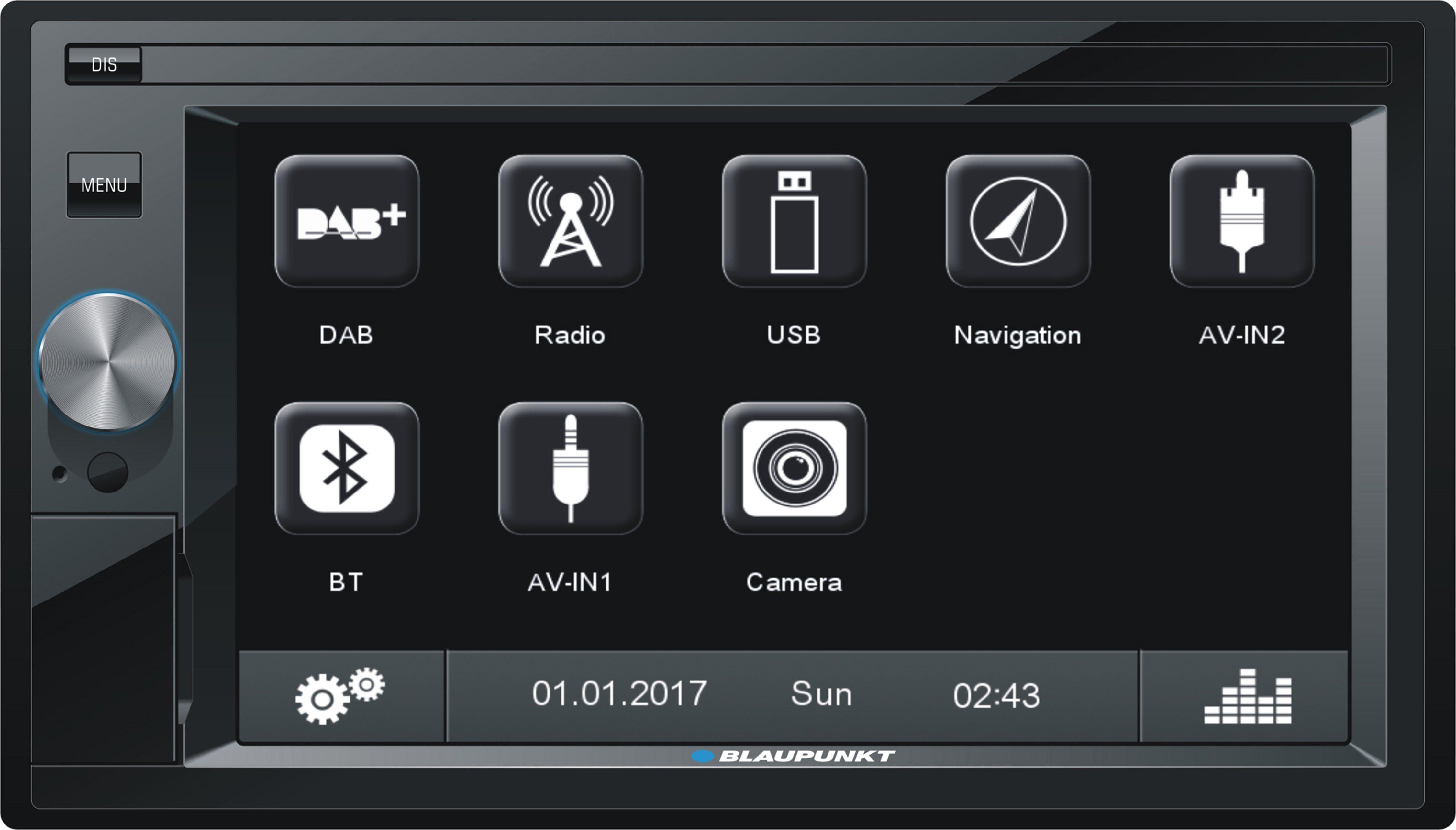 Blaupunkt 2-DIN Multimediasystem mit DAB+ & Bluetooth »OSLO 370«