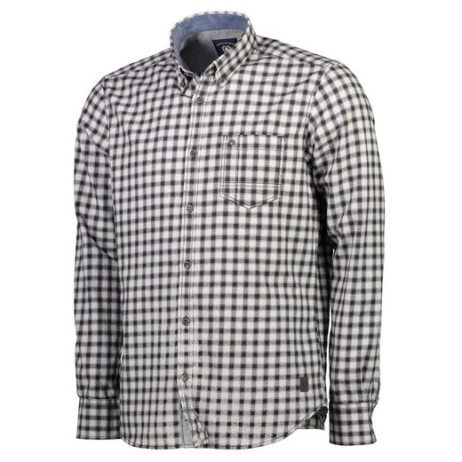 Lerros Flannel Shirt With Woven Karo