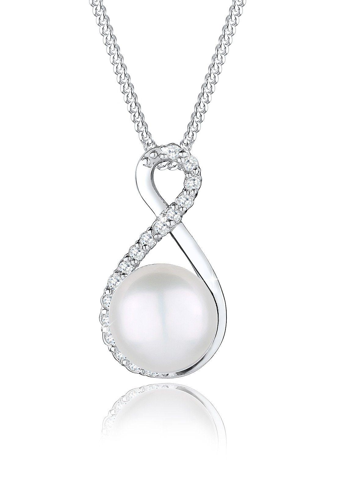 Perlu Halskette »Infinity Süßwasserzuchtperle 925 Silber Stockholm«