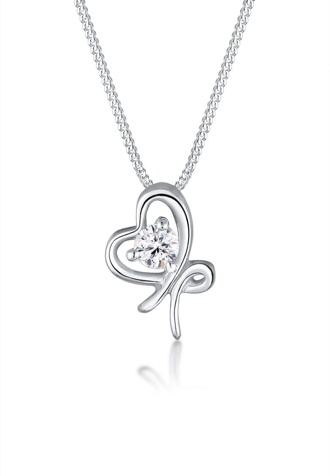 Elli Halskette »Schleife Swarovski® Kristalle 925 Sterling Silber«
