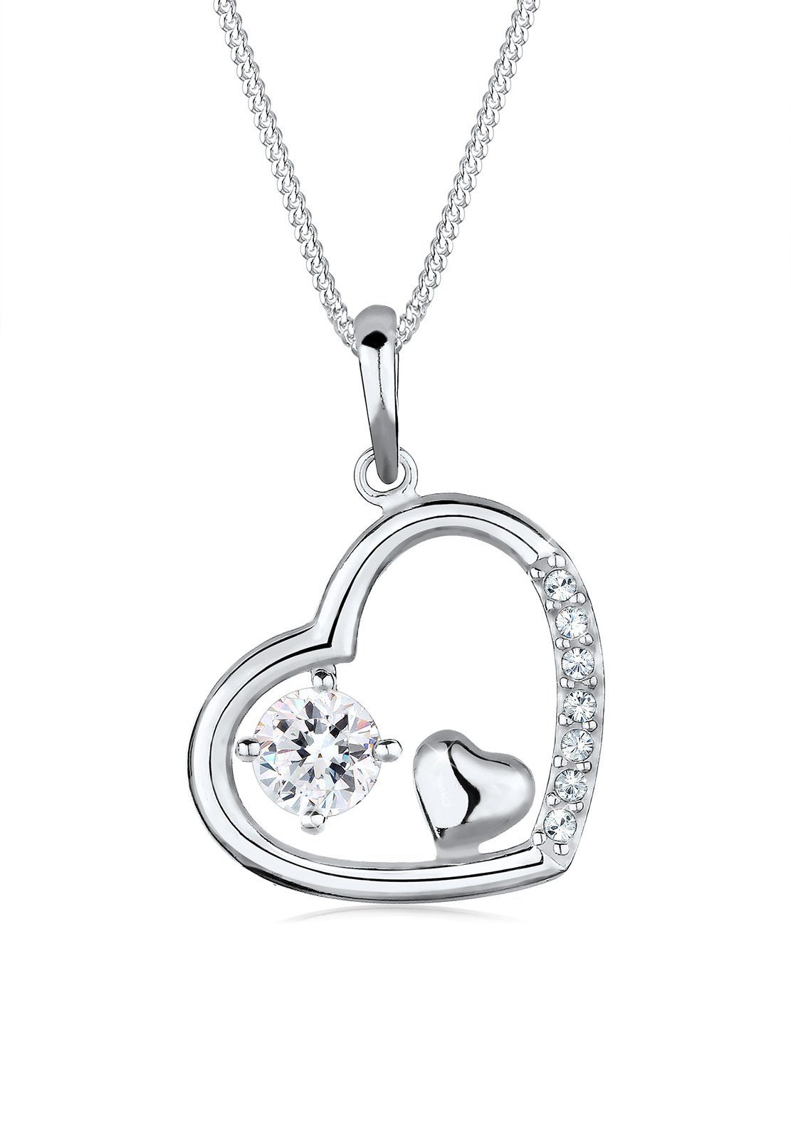 Elli Halskette »Herz Zart Swarovski Kristalle 925 Sterling Silber«