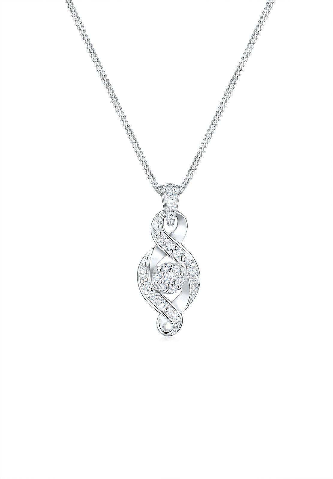 Elli Halskette »Infinity Unendlichkeit Zirkonia 925 Silber Arianna«