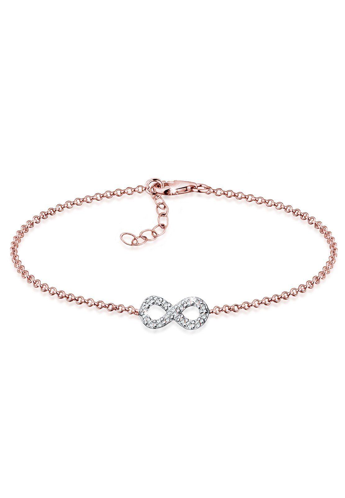 Elli Armband »Infinity Bi-Color Swarovski® Kristalle Silber Kyra«