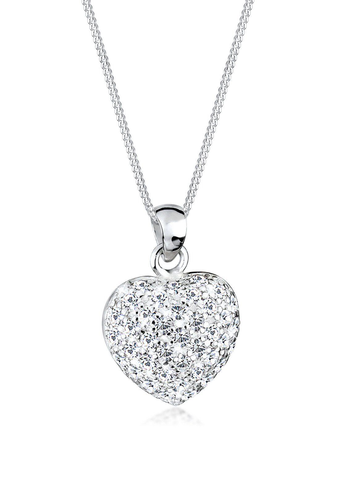 Elli Halskette »Funkelnd Herz Swarovski® Kristalle 925 Silber Caya«