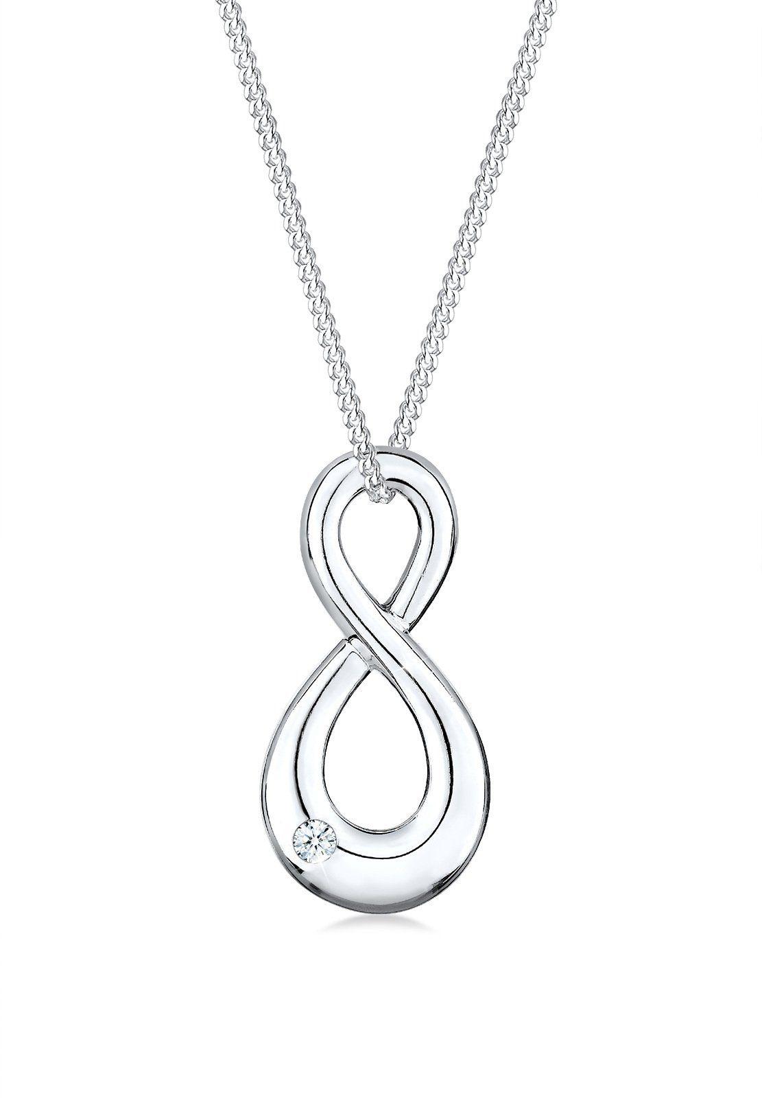 Diamore Halskette »Infinity Minimalistisch 925 Sterling Silber«