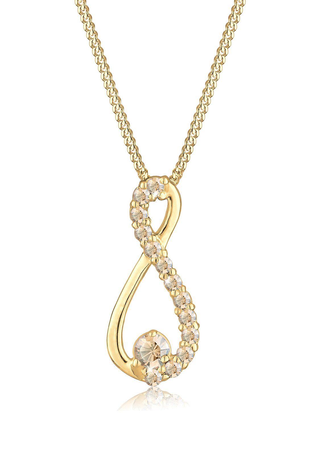 Goldhimmel Halskette »Infinity Swarovski® Kristalle 925 Silber Yvonne«