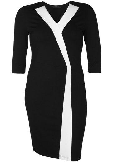 Doris Streich Jerseykleid mit Kontraststreifen