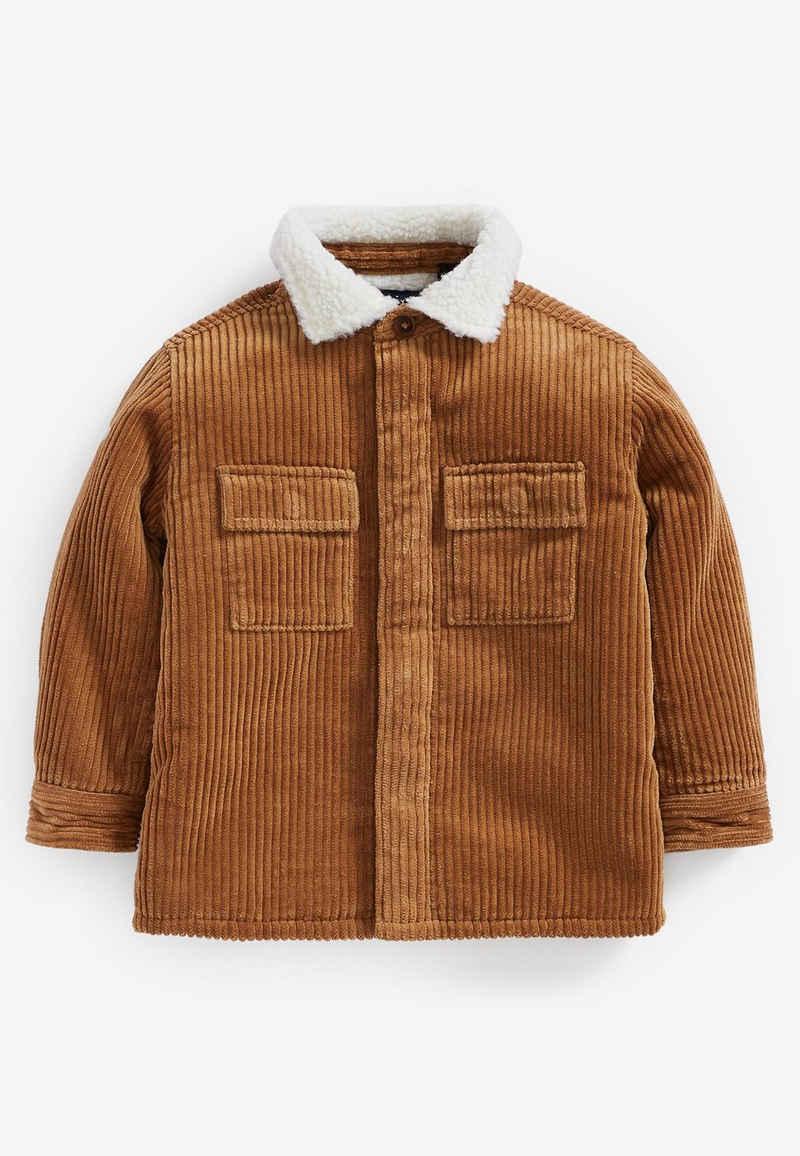Next Outdoorhemd »Hemdjacke aus Cord mit Teddyfellkragen« (1-tlg)