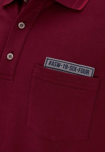 AHORN SPORTSWEAR Poloshirt mit langen Ärmeln und Stickerei