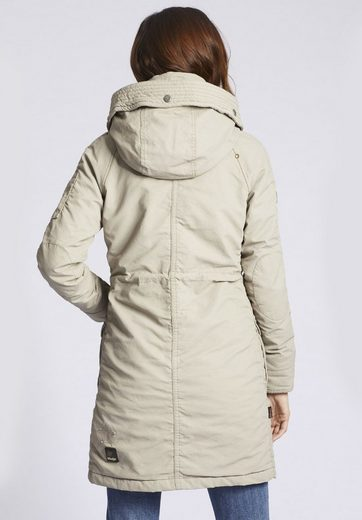 khujo Winterjacke MELL, in gewachster Optik