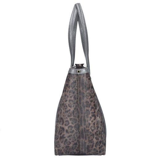 Roberto Cavalli Class Signature Collection Shopper Tasche Leder 32 cm