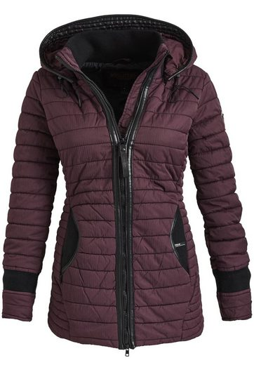 Khujo Quilted Jacket Midd, With Detachable Hood