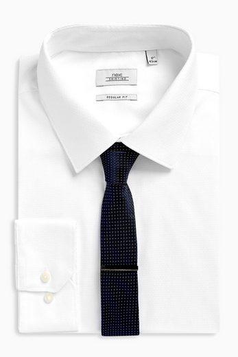Next Regular-Fit-Hemd mit Krawatte und Krawattenklammer im Set 3 teilig