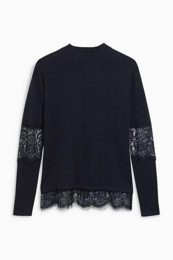 Next Pullover mit Spitzeneinsatz