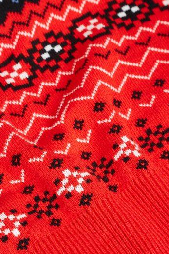 Next Sweatshirt mit Weihnachts-/Schneemann-Motiv