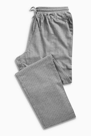 Next Fabric Pants With Roughened Surface And Stripe Pattern