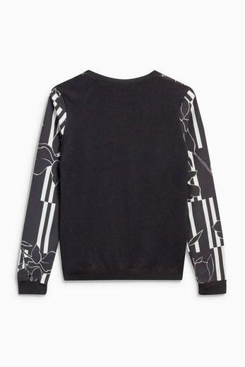 Next Pullover mit Vorderpartie aus Webstoff