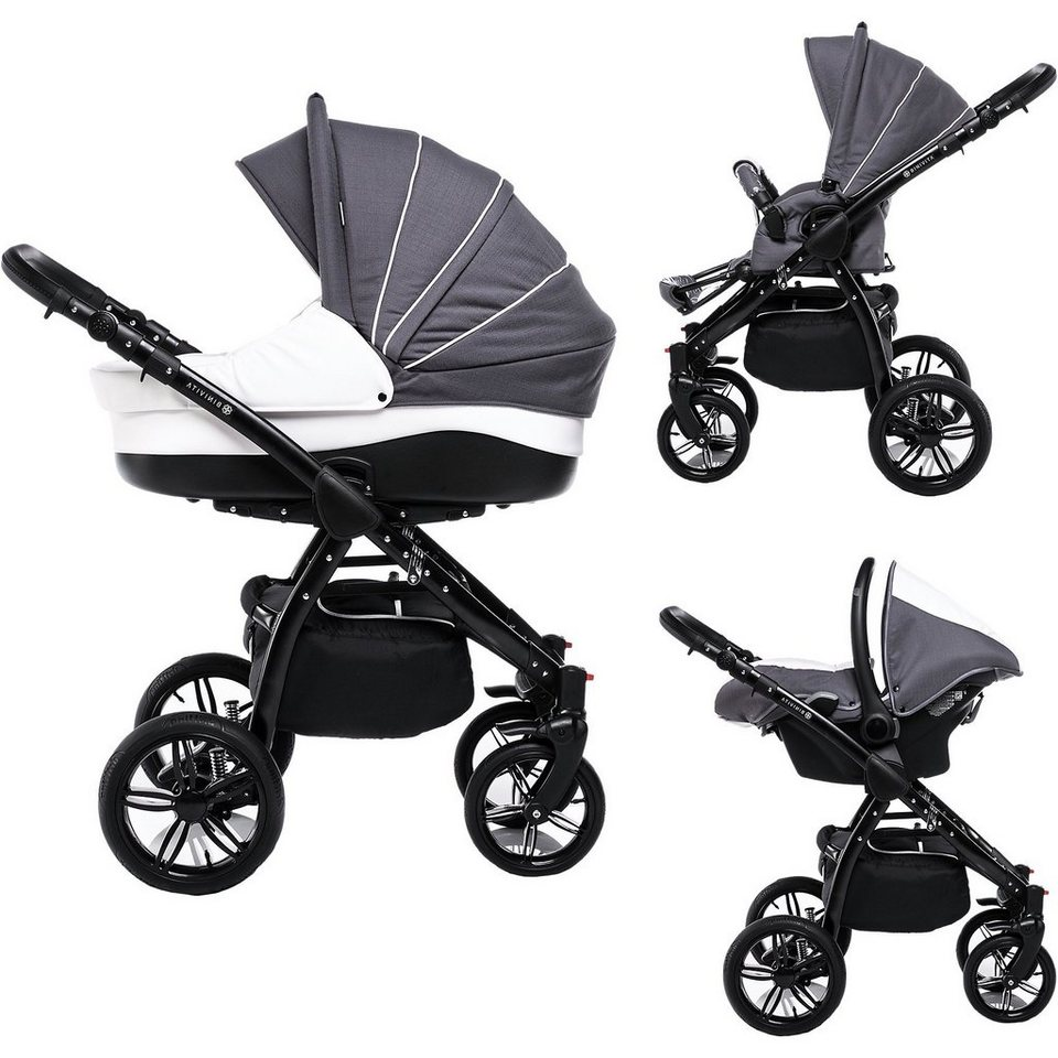 binivita kombi kinderwagen indigo 3 in 1 black. Black Bedroom Furniture Sets. Home Design Ideas