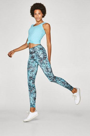 ESPRIT Active-Leggings mit Grafik-Print, E-DRY