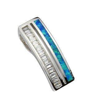 Firetti Anhänger »925/- Sterling Silber mit synth. Opal & Zirkonia«