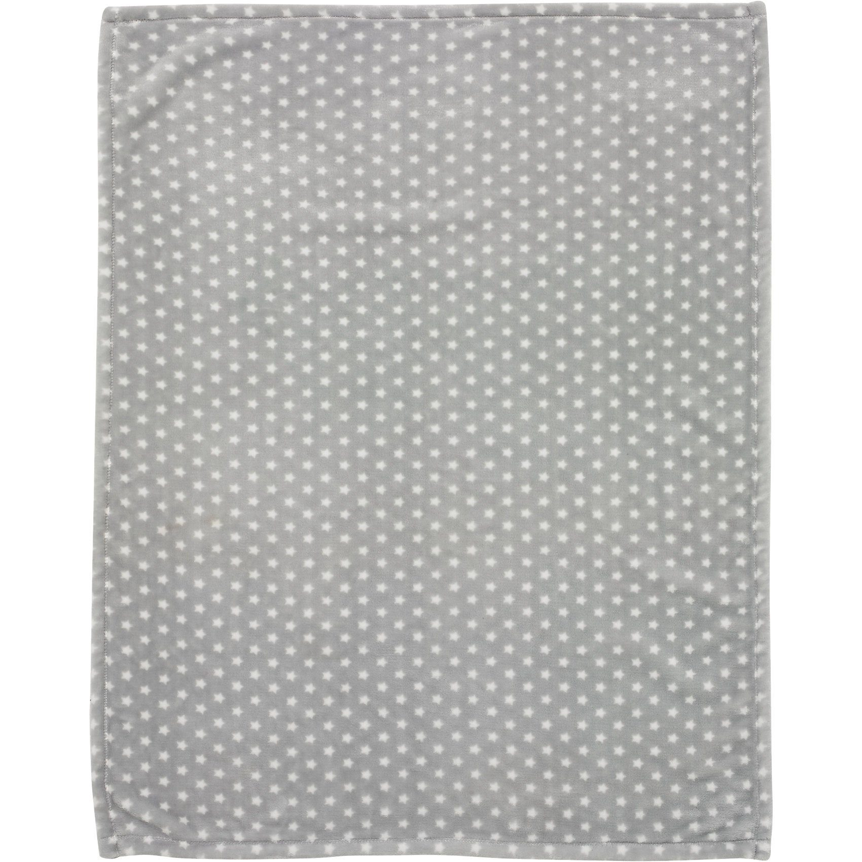 Babydecke mit UV-Schutz, Microfaser, Stars silber, 75 x 100