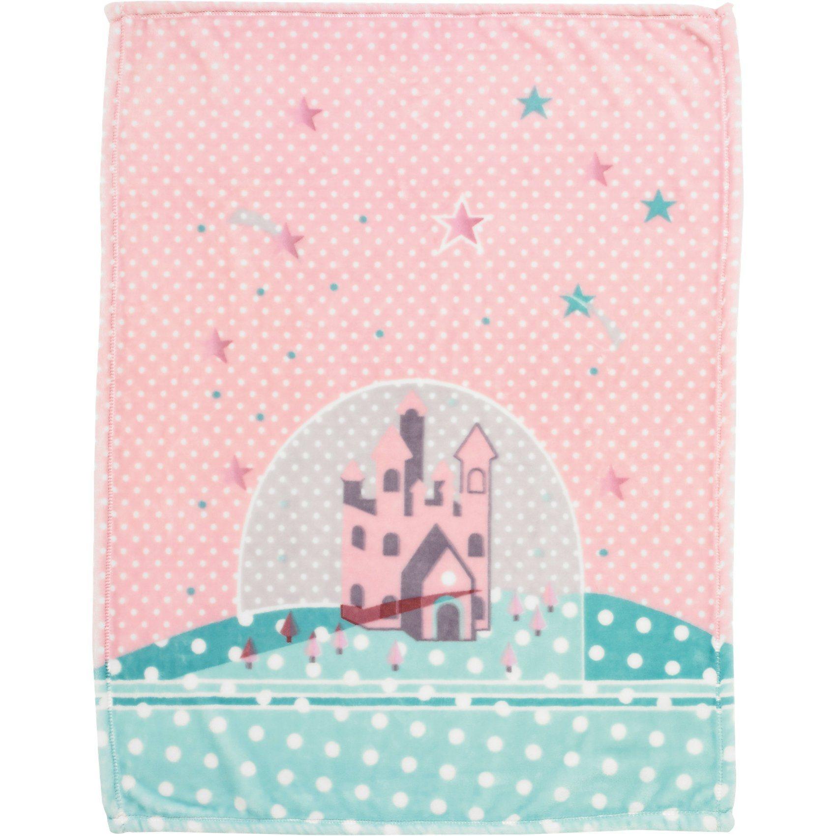 Alvi Babydecke mit UV-Schutz, Microfaser, Sternenschloß, 75 x 100 | Kinderzimmer > Textilien für Kinder > Babytextilien | Polyester | Alvi®