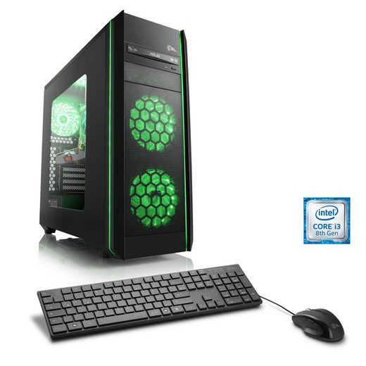 CSL Gaming PC | Intel Core i3-8350K | GTX 1060 | 16 GB DDR4 | SSD »Speed T5561 Windows 10 Home«