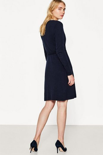 ESPRIT COLLECTION Wickel-Kleid aus Feinstrick mit Kaschmir