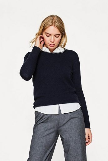 ESPRIT COLLECTION Pullover aus Woll-Mix mit Perlen-Dekor