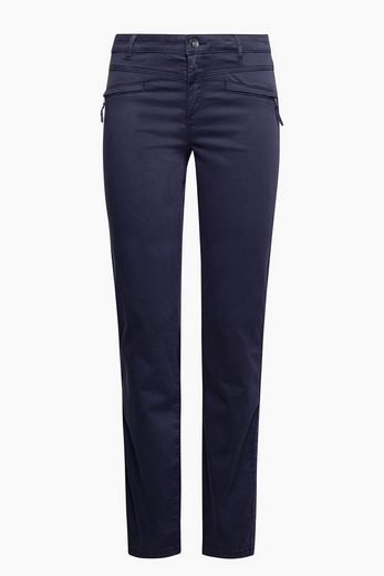 ESPRIT Softe Stretch-Pants mit Frontzippern